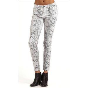 NWOT! 7 FOR ALL MANKIND High Gloss Snakeskin Jeans